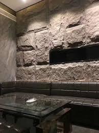 square stone panels fake rock wall