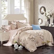 attractive ideas soft comforter sets 100 cotton bed linen set flowers birds print bedding king queen size sheet duvet cover pillow sham