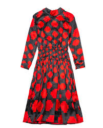 Marni Dress Size Chart Dress With Small Collar And Pixels Print