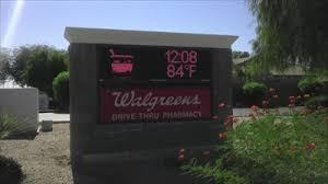 Walgreens Gilbert Az Walgreens Time And Temp Sign Gilbert Arizona Time And