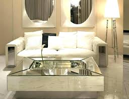 mirrored coffee table wood square round top