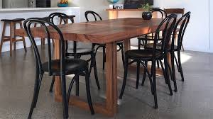 recycled timber dining table 6 seater