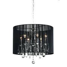 frightening black drum shade chrome crystal chandelier pendant fixture lighting lighting s
