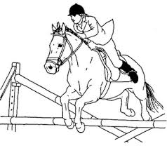 Small Picture Jumping horse coloring page Pony Camp Craft Ideas Pinterest