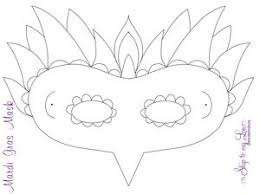 Masks To Decorate Printable 60 Free Mardi Gras Mask Templates for Kids and Adults 3
