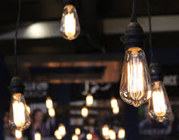 edison bulb chandelier wall event als