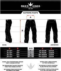 Bunker Kings V2 Supreme Pants Size Chart Bunker Kings Supreme Paintball Pants