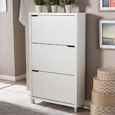Amazon.com: Baxton Studio Simms 3 Tier Modern Shoe Cabinet, White: Kitchen  & Dining