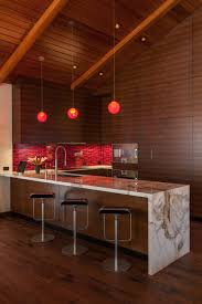 Modern Asian Kitchen Modern Asian Kitchen And Dining Area With Rich Wood Beaches