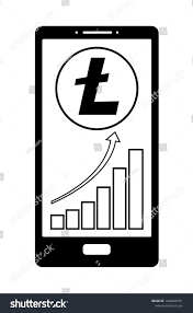 Litecoin Growth Chart Coin Litecoin Growth Chart On Phone Stock Vector Royalty