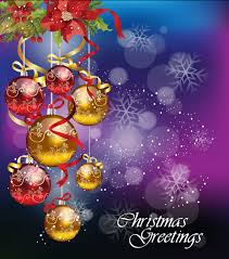 Christmas Card Images Free Christmas Ornaments With Greeting Card Background Vector 02 Free