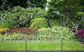 flower bed fence ideas green garden fence flower bed and lawn behind small garden fence green