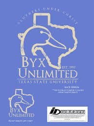 Id Solutions Custom Apparel And Design Byx Shirt For Texas State University Beta Upsilon Chi