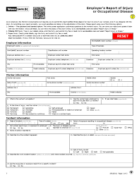 Employers Report Of Injury Worksafebc Link To A Form 7