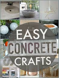Easy Concrete Projects! A round up of my favorite Easy Concrete Projects  for you to