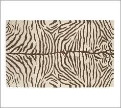 brand new pottery barn zebra area rug carpet 8x10 pottery barn brown zebra rug