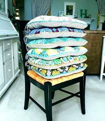 chair cushions with ties dining room striped tie for