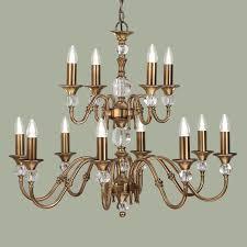 polina brass 12 light chandelier new classics interiors 1900