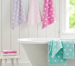 Heart Bath Towel Collection Pottery Barn Kids