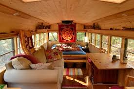 tiny house school bus. Check Out This Awesome Tiny House School Bus Conversion! - Treasure Homes G