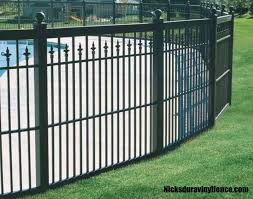black vinyl picket fence. Spear Top Black Fencing Costscalloped Picket Topeka Outdoor Vinyl Fences Fence