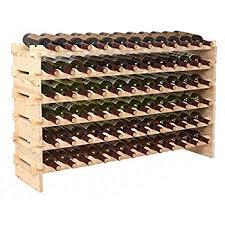 wine rack. Smartxchoices Stackable Modular Wine Rack Storage Stand Wooden Holder Display Shelves, Wobble-