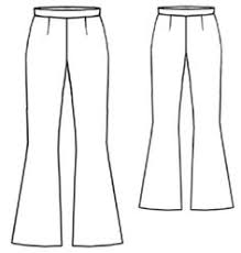 Flare Pants Pattern Beauteous How To Make Flared Pants Free Garment Draft No Certain Yardage