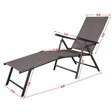 Furniture Poolside Lounge Chairs Reclining Lawn Chair