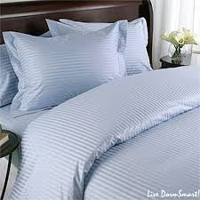 light blue stripe twin xl duvet style comforter set 100 cotton 300 thread count