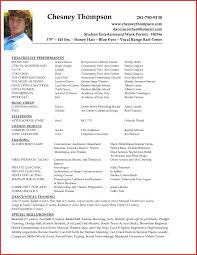Actor Resume Examples Free Acting Resume Samples And Examples Ace