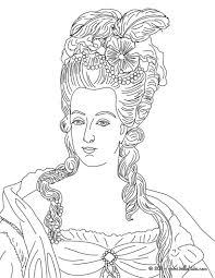 Marie Antoinette Queen Of France Coloring Pages Hellokids Com Colouring Picture Napoleon