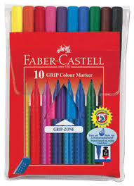 Купить <b>Faber</b>-<b>Castell</b> Набор фломастеров <b>Grip</b>, <b>10</b> цветов ...