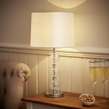 Wilko Parchment Glass Ball Detail Table Lamp