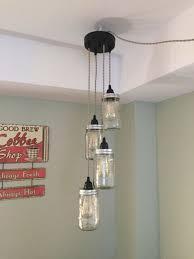 mason jar chandelier light for your edison style bulbs