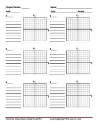 Xy Graph Paper Masters By Cindy Carlson Teachers Pay Teachers