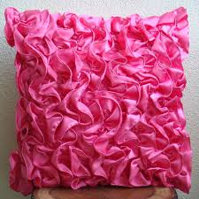 fuchsia pink cushion covers x satin pillow covers square