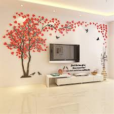 kenmont 3d diy huge couple tree wall decals crystal acrylic wall stickers art mural wall decor