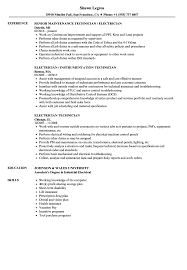 Electrical Technician Resume Sample Electrician Technician Resume Samples Velvet Jobs 34
