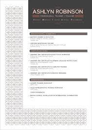 Modern Resume For Instructors Free Resume Cv Design Template For Trainers Teachers