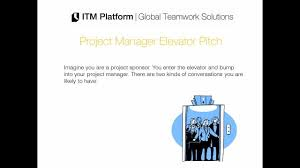 project manager elevator pitch project manager elevator pitch