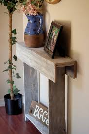distressed entry table. 30x7x30 console table. small entry skinny wall white distressed table