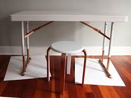 a plastic folding desk into a chic desk