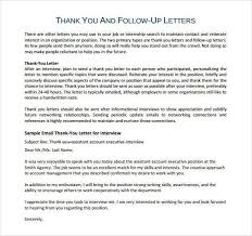 Resume Thank You Letters Sles Thank You Letter After
