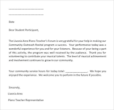 Community Service Letter Of Recommendation Sample For