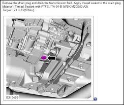 Tr3160 Oil Drain Bolt Torque Spec 2015 S550 Mustang