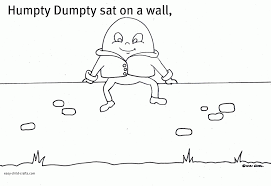 humpty dumpty coloring pictures  free coloring pages