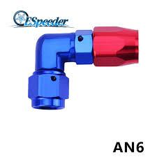 <b>ESPEEDER AN6</b> Blue Aluminium Nut Bulkhead Fitting Adapter Seal ...