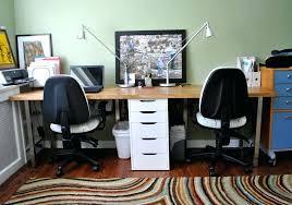 stylish office desk setup. Two Person Desk Stylish Office Setup Bold And Modern 2 Decoration Home Design Desktop Personal Assistant