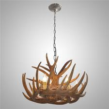 rustic antler chandelier cascade ceiling light antler lighting with 6 lights dining room living lighting room