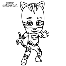 In the meantime, let's have some coloring fun! Pj Masks Coloring Pages The Coloring Page